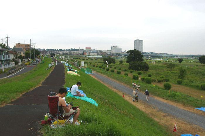 定点Aの多摩川&たまがわ花火大会の混雑状況@二子玉川