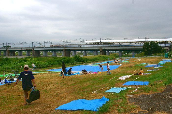 定点Cの多摩川&たまがわ花火大会の混雑状況@二子玉川