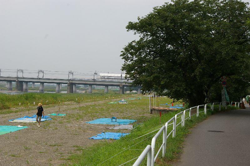 定点Dの多摩川&たまがわ花火大会の混雑状況@二子玉川09年