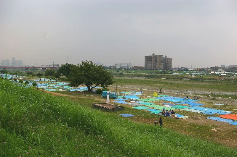 定点Eの多摩川&たまがわ花火大会の混雑状況@二子玉川09年