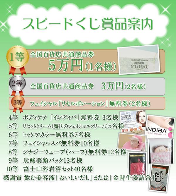 ★☆スピードくじ豪華景品発表☆★〜1月25日まで〜